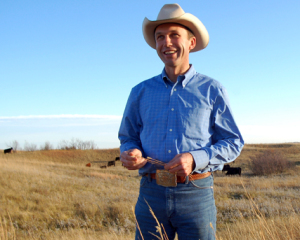 Ryan Taylor on his North Dakota ranch.